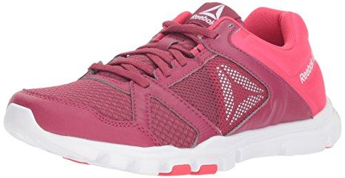 Reebok Yourflex Trainette 10 MT - Zapatillas deportivas para mujer, morado (Cerezo retorcido/Rosa), 38.5 EU