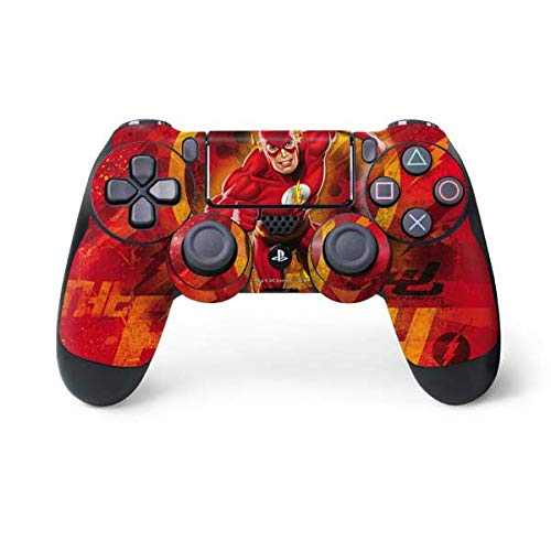 Skinit Decal Gaming Skin for PS4 Controller - Officially Licensed Warner Bros Ripped Flash Design