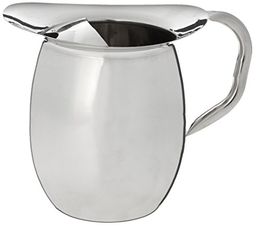 Winco WPB-2 Deluxe Bell Pitcher, 2-Quart, Stainless Steel