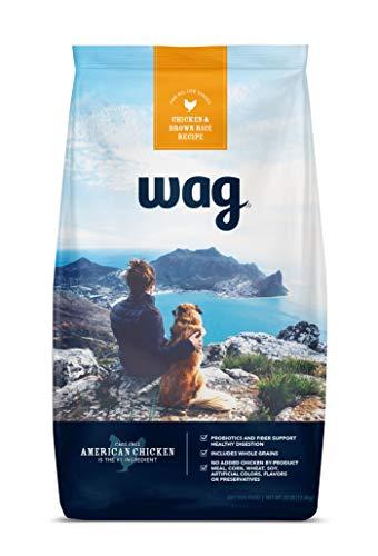 Amazon Brand – Wag Dry Dog Food, Chicken and Brown Rice, 30 lb Bag