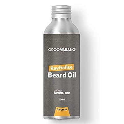 Groomarang Revitalise Beard Oil 100ml | Moisturiser & Conditioner For Soft Bearded Hair | 100% Natural, Vegan And Organic | Perfect Gifts For Him by Groomarang
