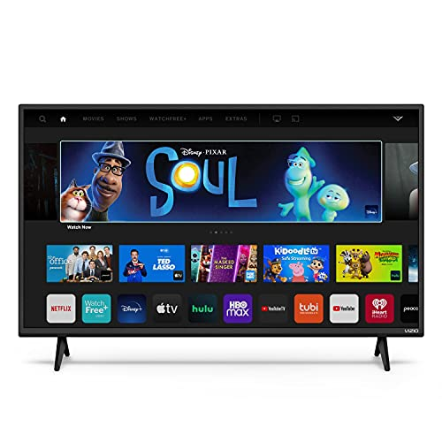 VIZIO 32-inch D-Series 720p Smart TV with Apple AirPlay and Chromecast Built-in, Screen Mirroring for Second Screens, & 150+ Free Streaming Channels, D32h-J09, 2021 Model
