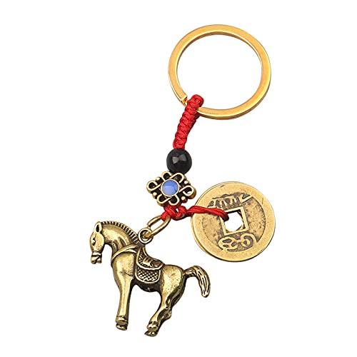 A/X Messing Handgemachte Schlüsselanhänger Pferd Statue Auto Anhänger Anhänger Dekoration Handwerk