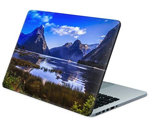 Skins4u Folie Sticker Skin Vinyl Aufkleber mit farbenfrohen Motiven für bis 15.6 Zoll 38.1x26.7cm Laptop Skin Decal Cover Berg-und-See