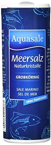 Aquasale Meersalz Naturkristalle Grob, 8er Pack (8 x 250 g Dose)