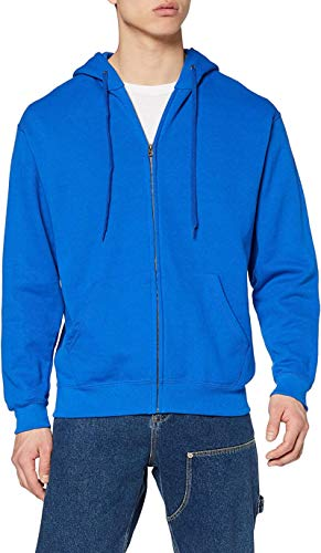 Ugsgdhgsdd Men's Zip Front Classic Hooded Jacket,Blue (Royal Blue),L