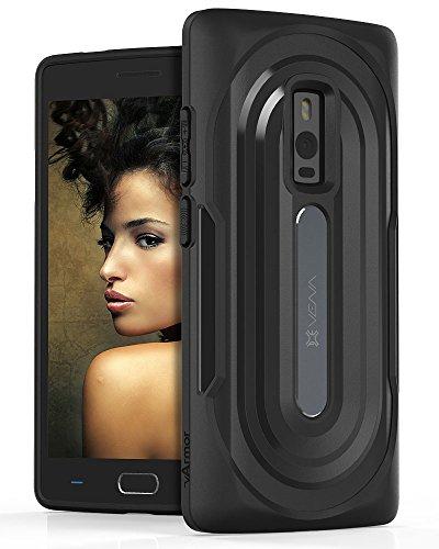 OnePlus 2 Case, Vena [vArmor] Ultimate Protection [Slim   Heavy Duty] Hybrid Case Cover for OnePlus 2 / OnePlus Two - Black/Black