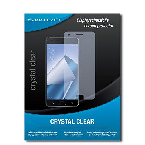 SWIDO Schutzfolie für Asus Zenfone 4 Pro ZS551KL [2 Stück] Kristall-Klar, Hoher Festigkeitgrad, Schutz vor Öl, Staub & Kratzer/Glasfolie, Bildschirmschutz, Bildschirmschutzfolie, Panzerglas-Folie