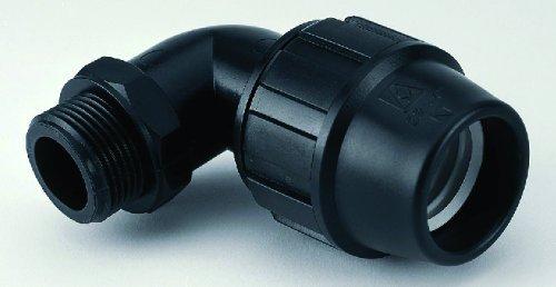 Adequa CMP-2534 Codo 90° Rosca Macho de Polipropileno Reforzado con Fibra de Vidrio, 25 mm-3/4