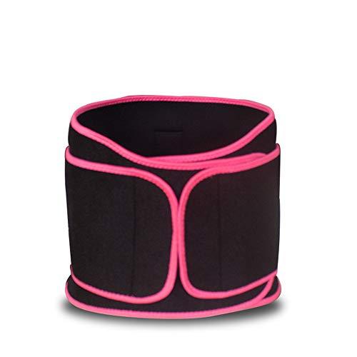 Nierengurt Unisex-Rückenstütze Lordosenstützgürtel for Schmerzen im unteren Rückenbereich mit Zwei verstellbaren Trägern Atmungsaktive Mesh-Einsätze Pink 5 Colors (Color : Pink, Size : XL)