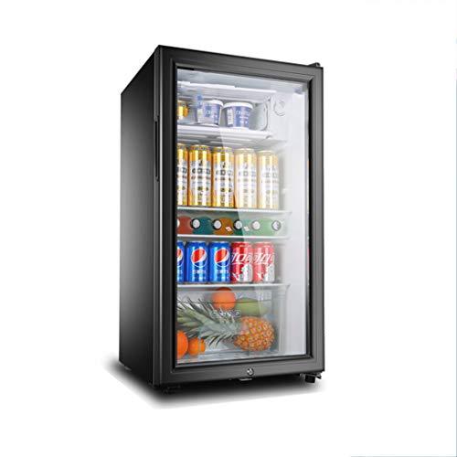 XJBHRB Weinkühlschrank,Freistehend Weinkühlschrank - Getränkekühler, Einzonentemperatur, 100 Liter, 45 cm breit, LED-Innenbeleuchtung, Schwarz