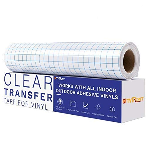 "Vinyl Transfer Paper Tape Roll 12/"" x 12 FT CLEAR w//Blue Alignment Grid"