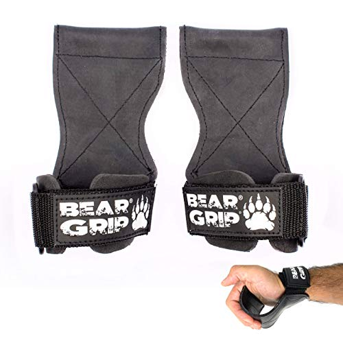 BEAR GRIP Multi Grip Straps/Hooks, Premium Heavy duty weight lifting...