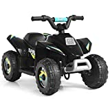 Costzon Ride on ATV, 6V Battery Powered Electric Quad, High/Low Speeds, Forward/ Reverse Switch, Rear Wheeler Motorized Ride On Mini Vehicle Car for Toddlers Boys Girls (Black)
