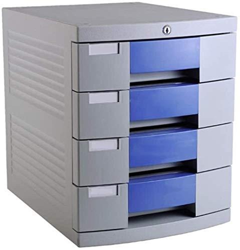 HEMFV Desktop File Cabinet 4 Ebenen mit Lock-Office-Datei Schränke for Archivierungssysteme & Organisationspapierunterlagen, Werkzeuge, Kinderbastelbedarf