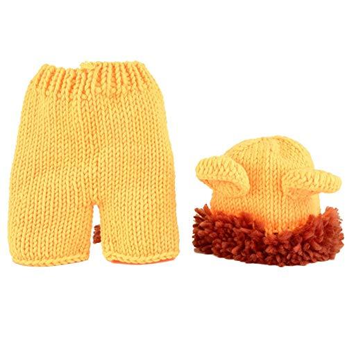 Baby Lion Costume, Baby Soft Cómodo Lindo León Disfraz Photo Prop Disfraz para bebé recién nacido