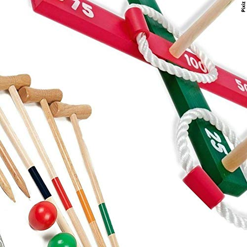 Traditional Wooden Garden Games Set for Children - Quoits and Croquet