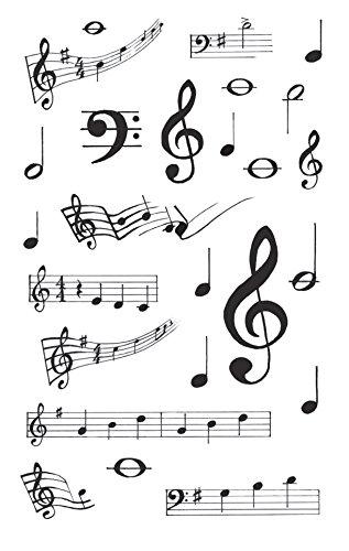 AVERY Zweckform 55151 Papier-Sticker Noten 75 Aufkleber (weiß, schwarz, Dekosticker, Musiknoten, Musikunterricht, selbstklebend, Karten, Scrapbooking, Fotoalbum, Bullet Journal, Dekorieren, Basteln)