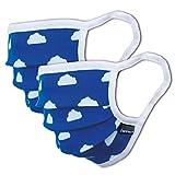 2er oder 3er Pack Mundschutz Kinder waschbar, Größe S oder M | aus 100% Baumwolle Oeko-TEX 100 Standard Earloop-Design | Wiederverwendbare Behelfs-Abdeckung für Mund Nase für Jungen und Mädchen
