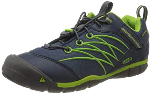 KEEN Unisex-Kinder Chandler CNX WP Trekking- & Wanderhalbschuhe, Blau (Dress Blues/Greenery Dress Blues/Greenery), 35 EU
