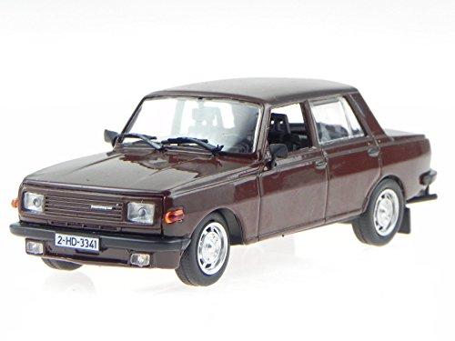 Wartburg 353 Limousine rot DDR Ostalgie Modellauto in Vitrine 1:43