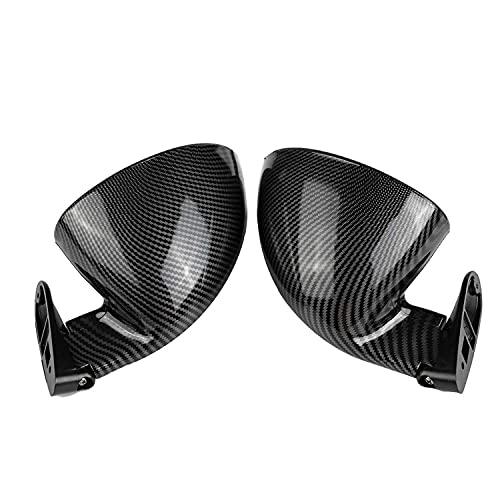 VNASKH Espejos universales 2 uds, Ala de puerta lateral de coche, espejo retrovisor lateral, apto para Audi A3 A4 A5 S3 S4 S5 RS5 A6 A8