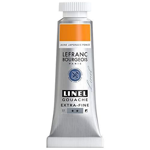Lefranc Bourgeois Linel Gouache - Tubo extrafino (14 ml), color amarillo japonés