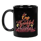 N\A One Thankful Grandma Thanksgiving, Abuelos, Grammy en cumpleaños, San Valentín, día de la Madre, Taza de café de cerámica de acción de Gracias de 11 oz, P4T6XQ ROIKEN