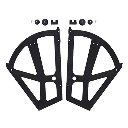 Accesorio de bisagras, bisagras de zapatero, útil para hacer circular el aire Fácil de montar y desmontar, color elegante y diseño elegante(black)