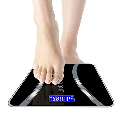 Digital Weight Scale Accurate Body Bathroom Fat Scale Display Seven Ttems Of Data 180KG/400 Pounds (Weight Scale)