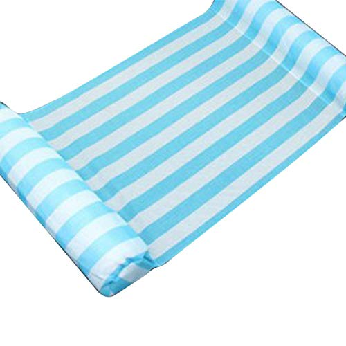 Swimming Pool Float Hammock Multi-Purpose Inflatable Hammock Recliner Water Hammock Lounge zcaqtajro (Color : Light Blue)