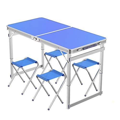 CAIM-Picknick Tafels Huishoudelijke Outdoor Koffer Vouwtafel 1,2 M Aluminium Camping Vouwtafel en Stoel Set