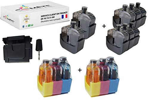 Cometa Francia - Juego de 3 juegos de recarga PG-540 540 + CL-541 541 Premium para cartuchos compatibles con impresoras PIXMA – 2 + 1 color – Fácil económico y ecológico