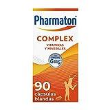 Pharmaton Complex, multivitamínico con Ginseng G115, Ayuda a recuperar la energía, 90 cápsulas blandas