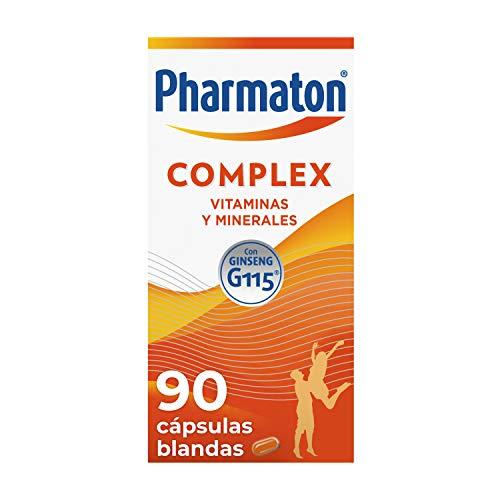 Pharmaton | Multivitamínico con ginseng | Complex 90 cápsulas | Ayuda a recuperar la energía