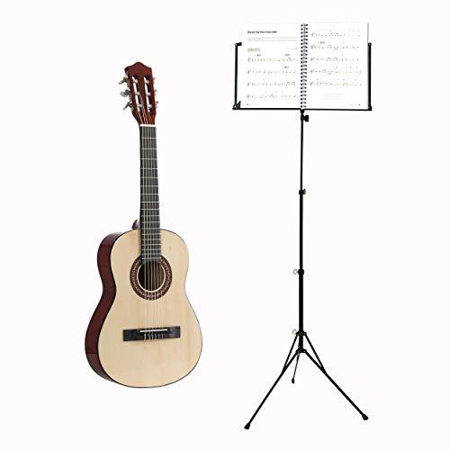Voggenreiter Kindergitarren-Set, 2-tlg, Konzertgitarre 1/2, Volt Notenständer NS-100, Kinder Gitarre