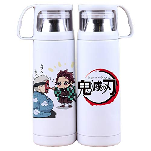 JCYY Stainless Steel Travel Insulated Mug with Lid Double Wall Vacuum Anime Sport Water Bottle Cartoon Cup Keeps Liquid Hot Or Cold Coffee Thermos Best Gift for Women Men Boy Girl Kids,1,300ML