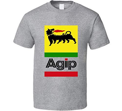 maichengxuan AGIP Retro Italian Racing Logo T-Shirt Formula 1 F1 MotoGP 1
