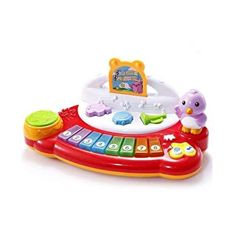 Digitale piano Children's Keyboard Cartoon Toy Game Early Education Raadsel het spelen van gratis Creation 3 jaar oud Gift (Kleur: Rood) (Color : Red)