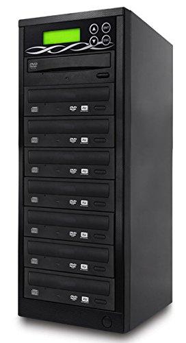 BestDuplicator Target DVD CD Duplicator with DVDRW Burners Athena Duplication Controller, Standalone Copier Tower Replication Recorder Black (7 Target, Black)