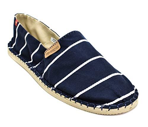 Havaianas HAV Origine Stripes Navy, Sandalias con cuña Tipo Alpargatas Unisex Adulto, Multicolor (Marine Blue)