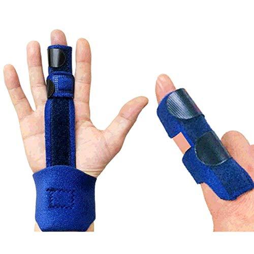 指サポーター ばね指 突き指 腱鞘炎 関節痛 手首固定 小指 薬指 人差し指 手 固定 サポーター バスケ バレー 男女兼用 フリーサイズ (紺)