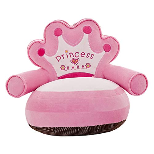 Cute & Bequeme Kinder Sessel Cover Kinder Kleinkind Sitzsack - Bär -Blau (Princess- Rosa)