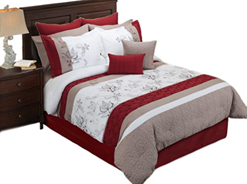 Hallmart Collectibles Eloise Comforter Set, King, 8 Piece