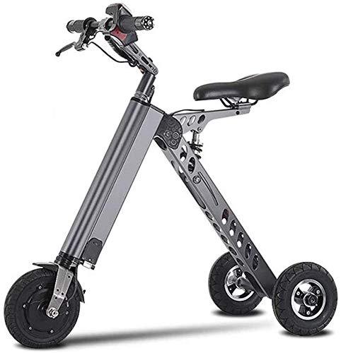 Haojie Plegable Bicicleta eléctrica Triciclo Scooter Batería Viaje de automóvil Electric Coche Luz y Conveniente para Trabajar,C