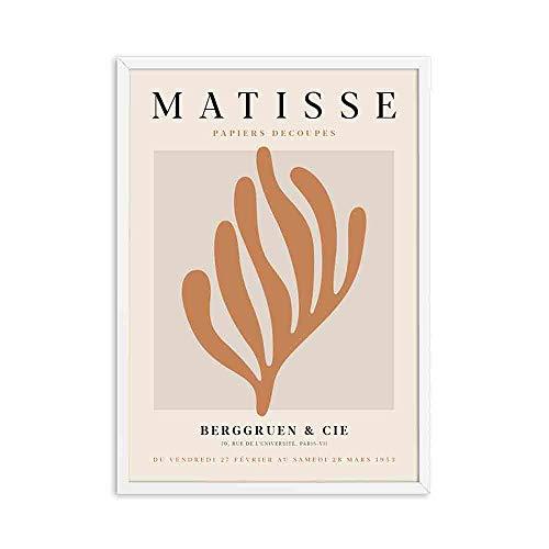 Henry Matisse abstracto mínimo ilustración pared arte impresión cartel Retro rosa cuadro de pared sin marco lienzo pintura A1 70x100cm