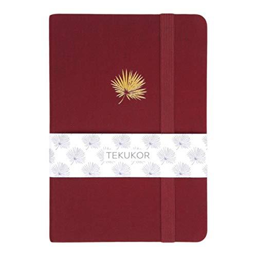 Tekukor A5 160gsm 192pgs Dot Journal Hardcover Dotted Notebook Grid Pages Bullet Sketchbook - Burgundy