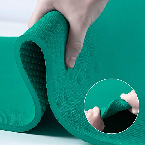 JELS 10mm Exercise Yoga Mat - Extra Thick Non Slip TPE Pilates Mat with Carrying Strap for Women Men Yoga Workout and Floor (72''L*26''W*2/5 inch)