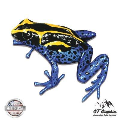 "GT Graphics Blue Poison Dart Frog Coloful Beautiful Dangerous - 3"" Vinyl Sticker - for Car Laptop I-Pad Phone Helmet Hard Hat - Waterproof Decal"