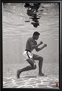 Muhammad Ali Under Water Sports 24x36 Dry Mount Poster Matte Back Wood Framed #8f13